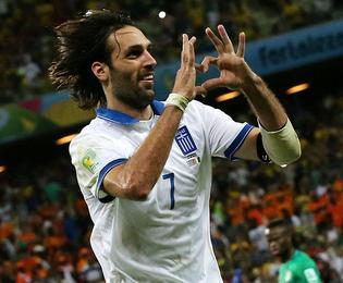 ÓÁÌÁÑÁÓ  ÅËËÁÄÁ - ÁÊÔÇ ÅËÅÖÁÍÔÏÓÔÏÕ(ÌÏÕÍÔÉÁË 2014) SAMARAS GREECE - IVORY COAST(WORLD CUP 2014)